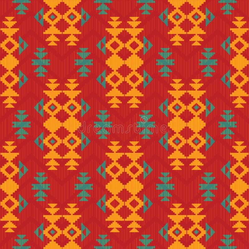 Abstract patroon in Indische Amerikaanse stijl stock illustratie