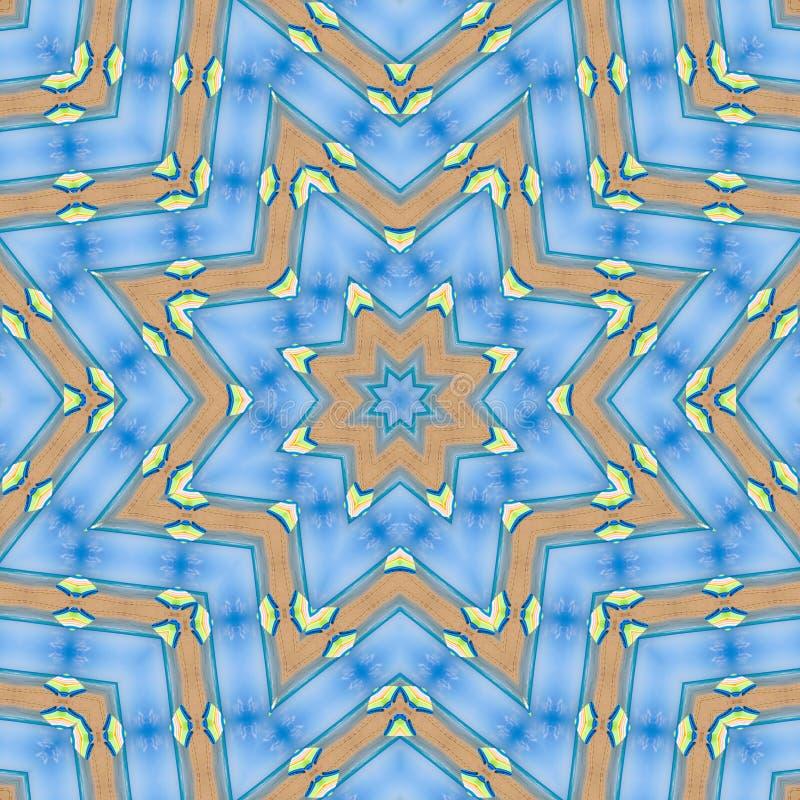 Abstract patroon van blauw overzees, hemel en zand vector illustratie
