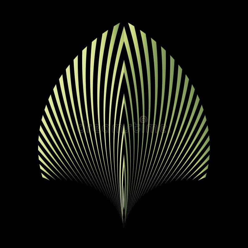 Abstract patroon van een installatieblad stock illustratie
