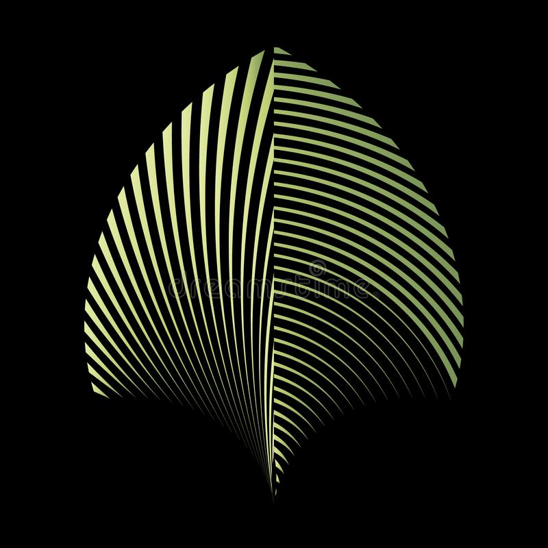 Abstract patroon van een installatieblad vector illustratie