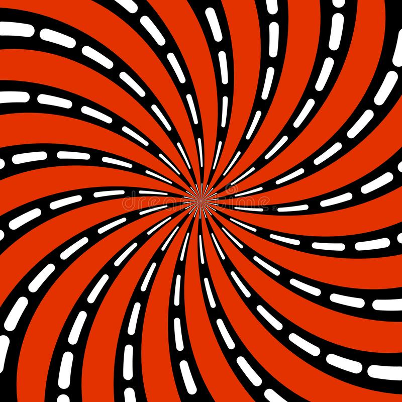 Abstract patroon van gestileerde spiraalvormige psychedelische vorm Vlakke vector vector illustratie