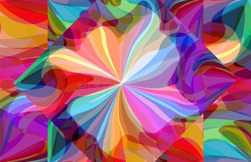 Abstract patroon van kleurrijke zeepbelfantasie royalty-vrije illustratie