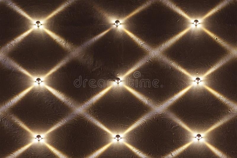 Abstract patroon van stralen van licht van muurlampen royalty-vrije stock fotografie