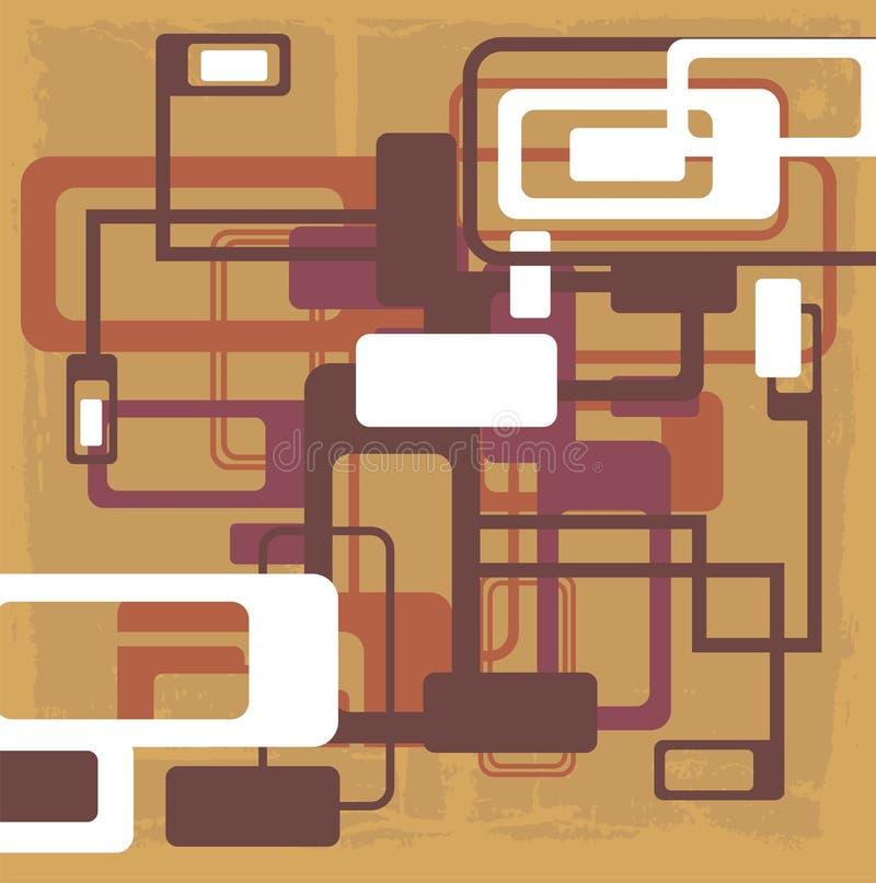 Abstract patroonontwerp vector illustratie