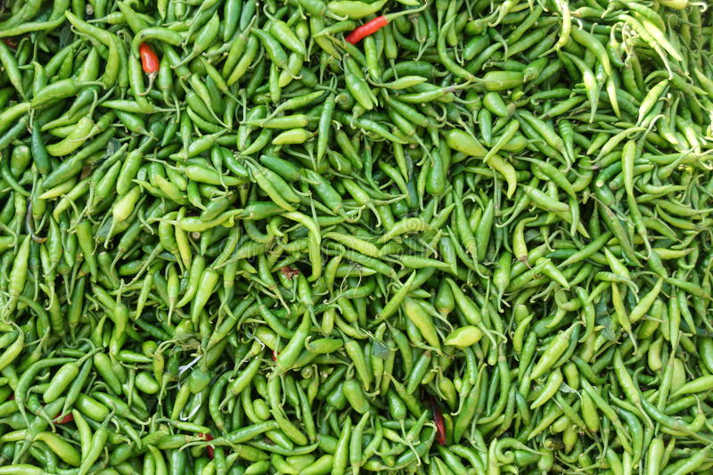 Abstract Pattern. Of chillies on a market in Gobindogonj Bangladesh stock photos