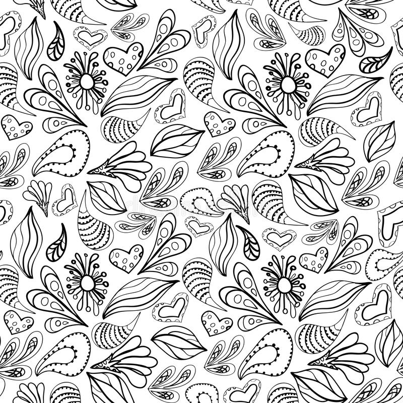Abstract pattern black outline on white. Abstract pattern black outline on white background royalty free illustration
