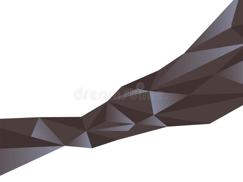 Abstract pattern of black triangles with blue glitter extended diagonal crystal face vector isolated on white background vector illustration