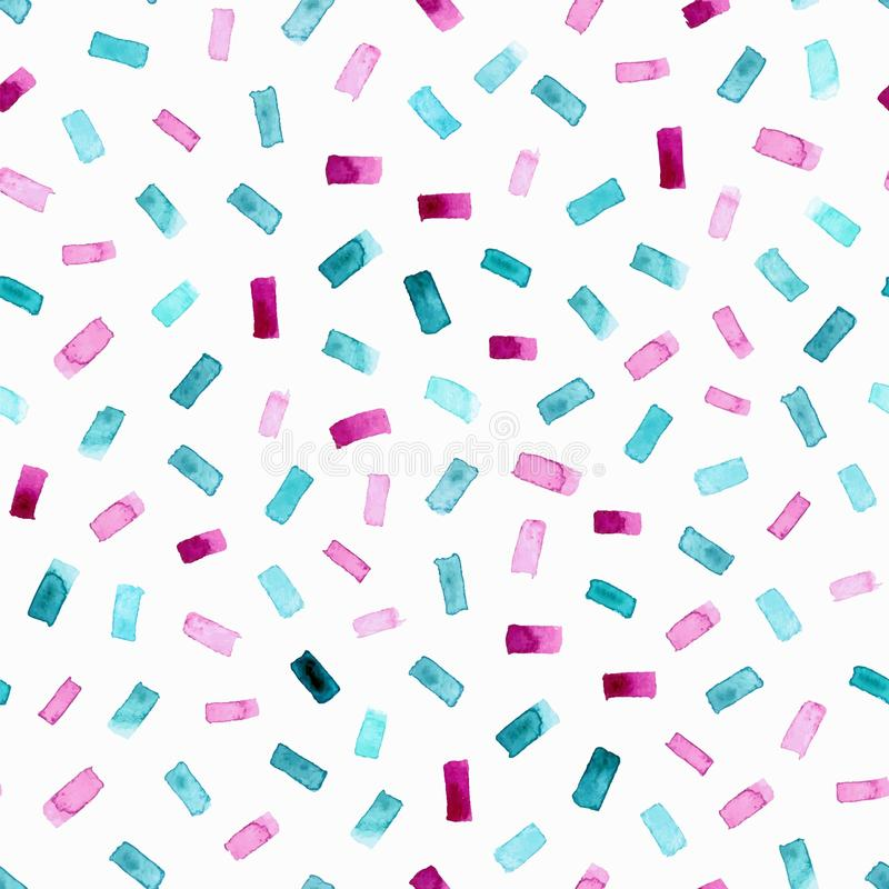 Abstract pattern with bright watercolor rectangles. Vector background. stock photo