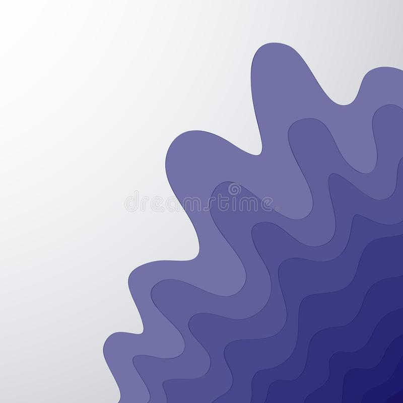 Abstract pattern from calm waves vector isolate blue on white background vector illustration