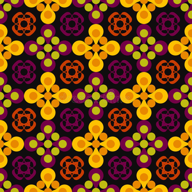 Abstract pattern of circles royalty free illustration