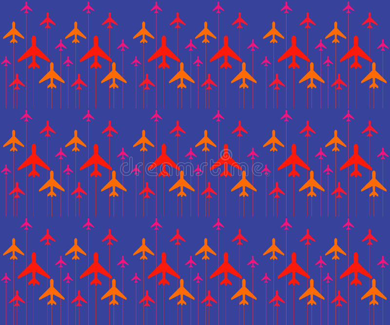 The Abstract pattern with color airplanes. Vector illustration., vector background.. vector design. royalty free stock photography