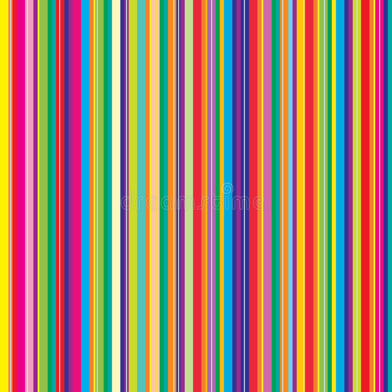 Abstract pattern with colorful stripes stock illustration