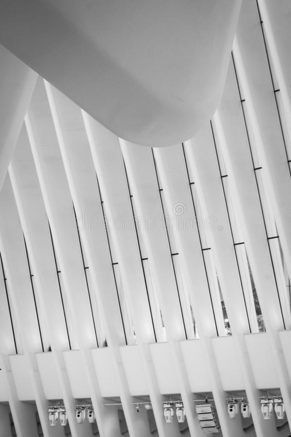 The oculus - abstract interior - Manhattan, New York royalty free stock photos