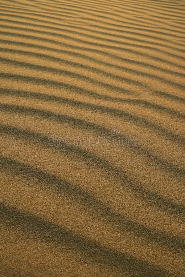 Abstract pattern of desert sand ripples in the evening sunlight at Huacachina sand dune in Peru. Nature Background stock images