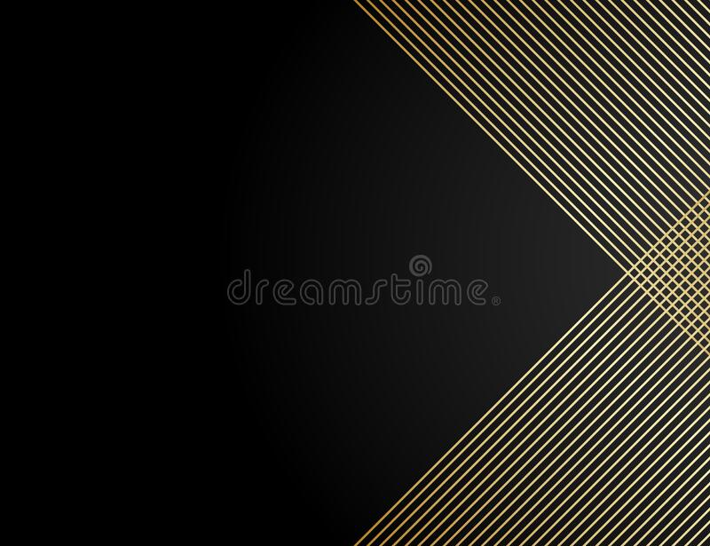 Abstract pattern diagonal line vector. Design stripe gold on black background. Design print for wallpaper, textile, fabric,. Abstract pattern diagonal gold line stock images