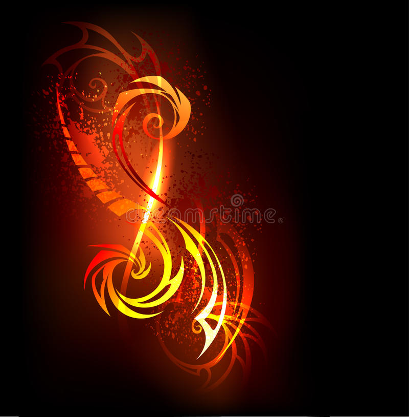 Abstract pattern of fire. Abstract fire pattern on black background vector illustration
