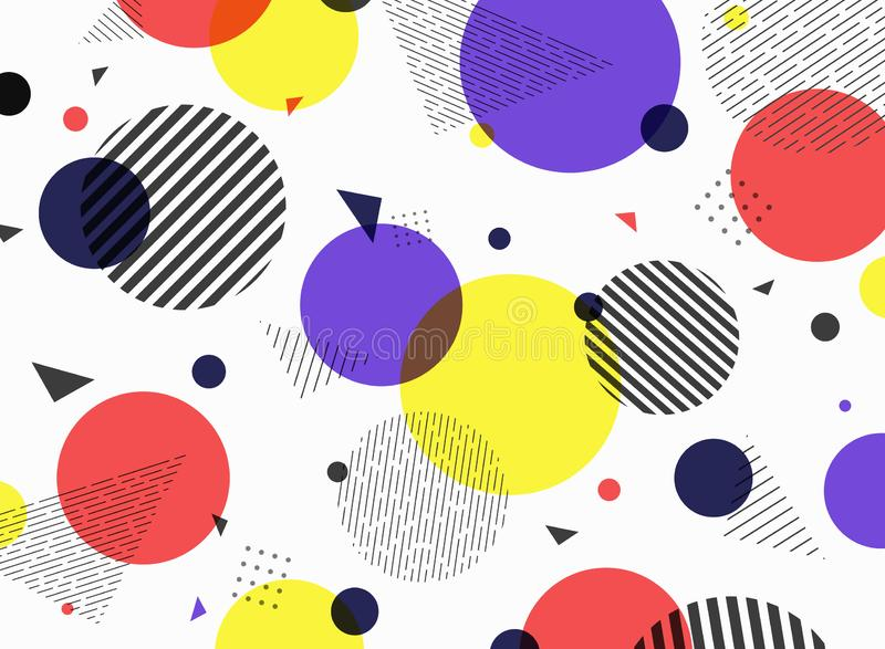 Abstract pattern geometric simple colorful shape design vector illustration