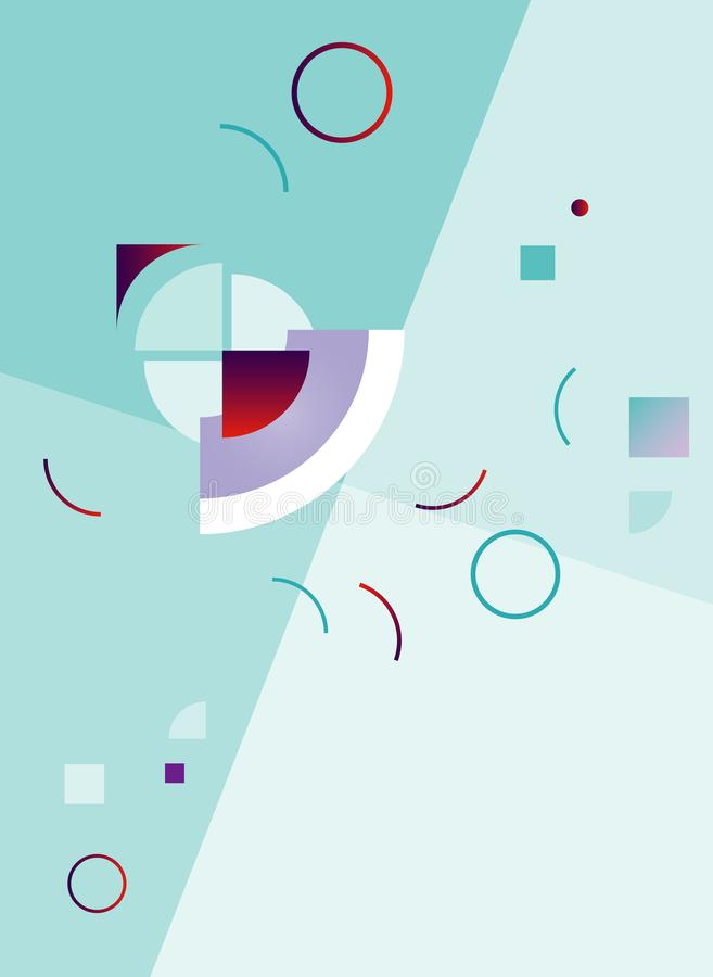 Abstract pattern in geometric style. Trendy creative color background. Vector royalty free stock images