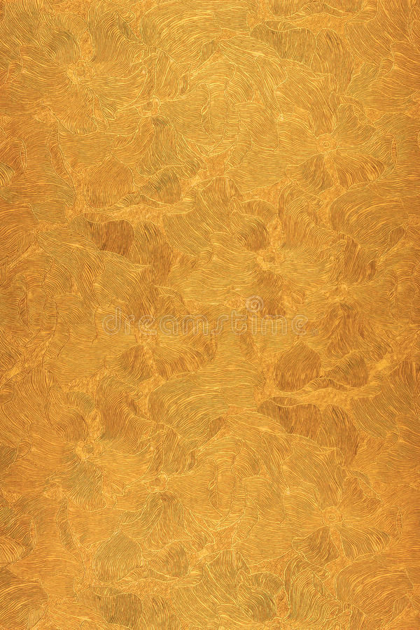 Free Abstract Pattern Gold, Copper Color Flowers. Bronze Background Stock Images - 68695174