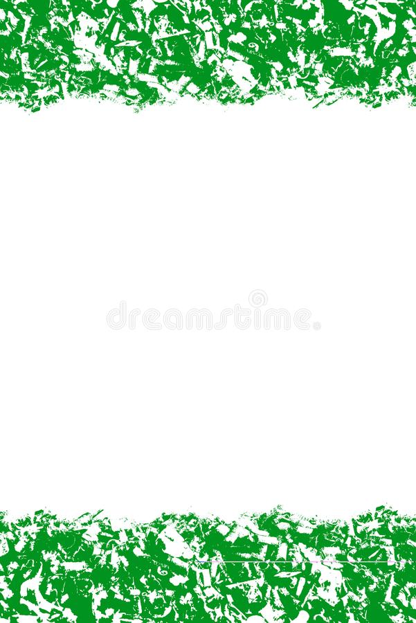 Abstract pattern, green and white colors, design background with empty center, text place stock illustration