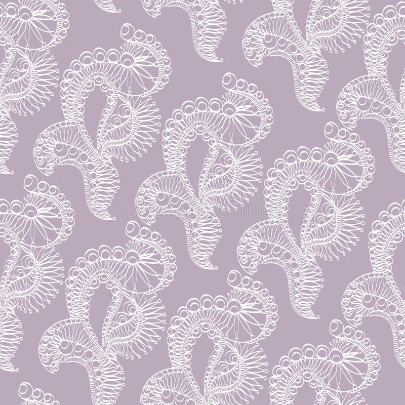 Abstract pattern with lace stylized objects royalty free illustration