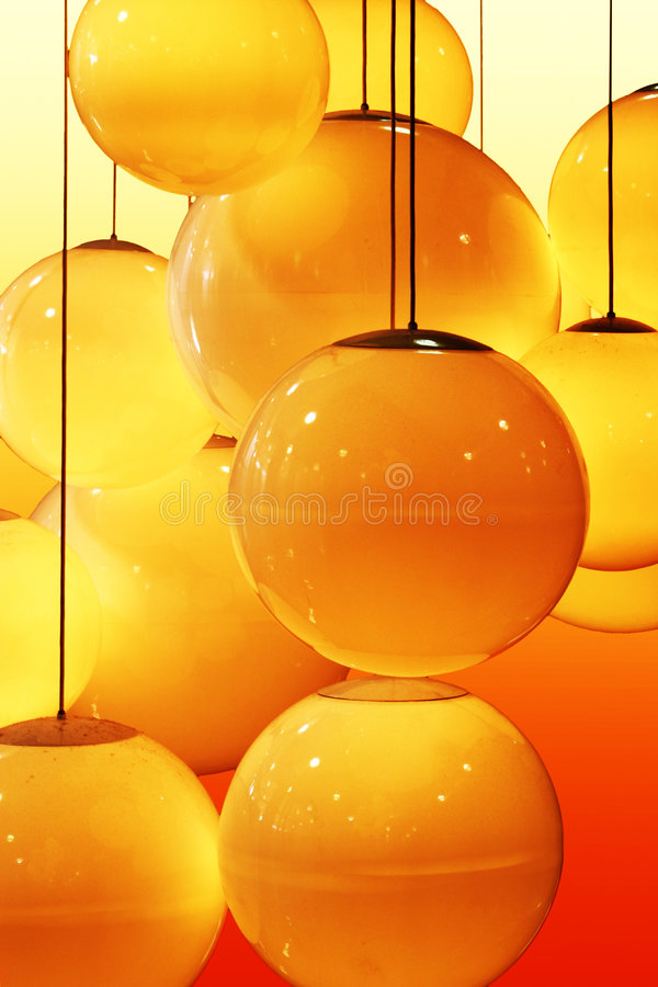 Abstract pattern of lightbulbs royalty free illustration