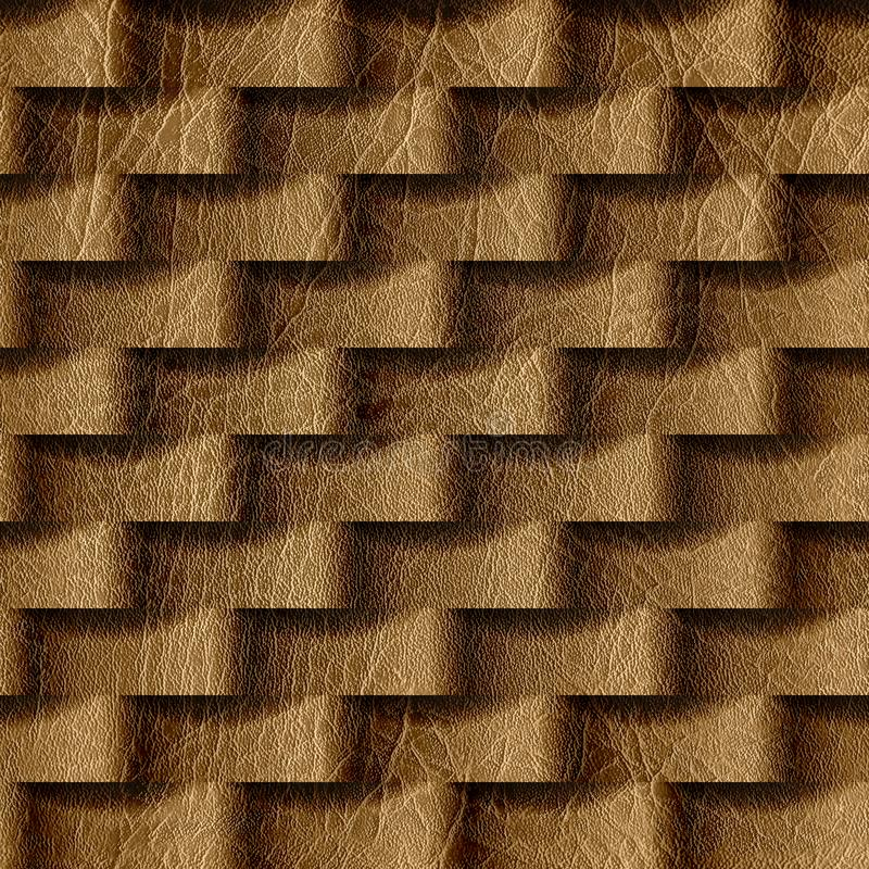 Abstract pattern with linear waves - seamless background. Leather surface vector illustration