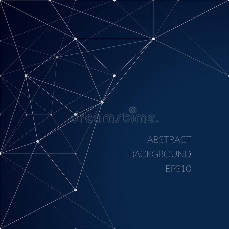 Abstract pattern with lines on a blue background. The grid of lines. The structure of the material. Constellations royalty free illustration