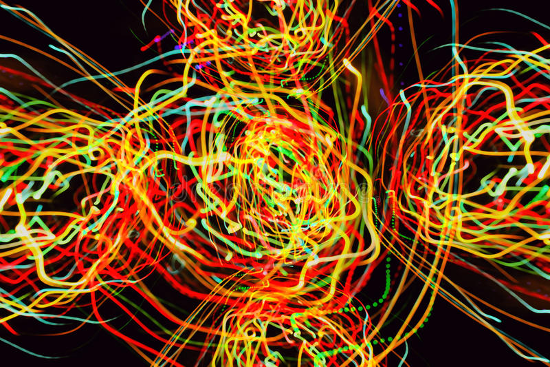Abstract pattern of motion lights royalty free illustration