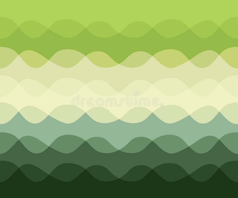 Abstract pattern with motion waves, curve green lines. Vector illustration royalty free illustration