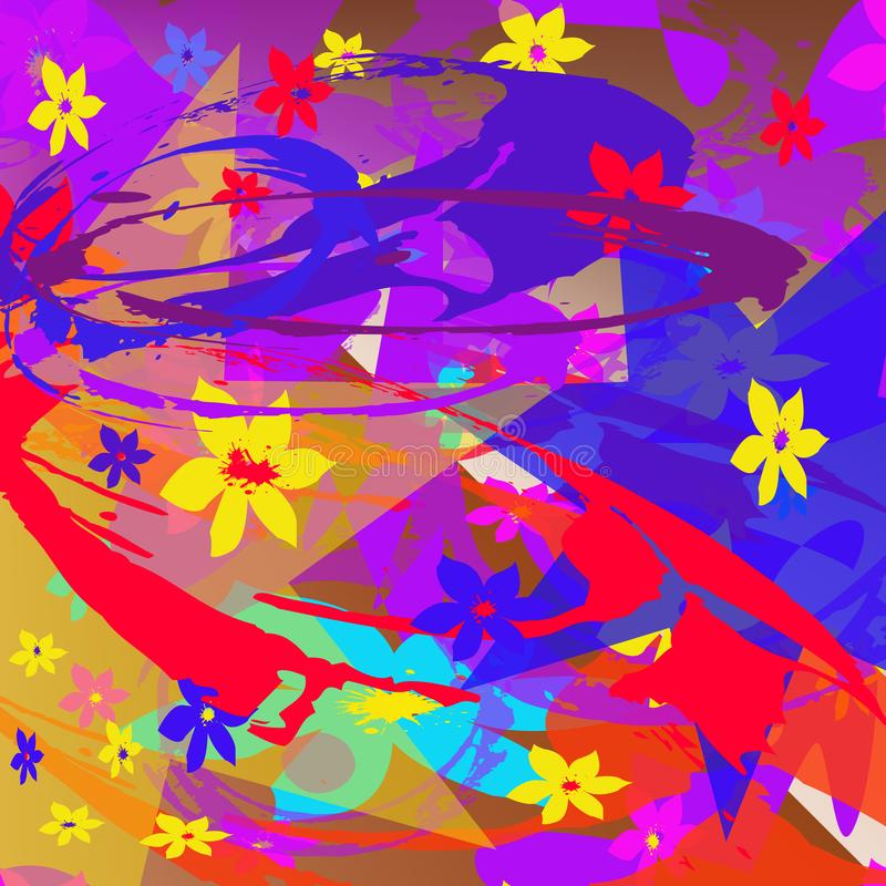 Abstract pattern of multi-colored elements. vector illustration