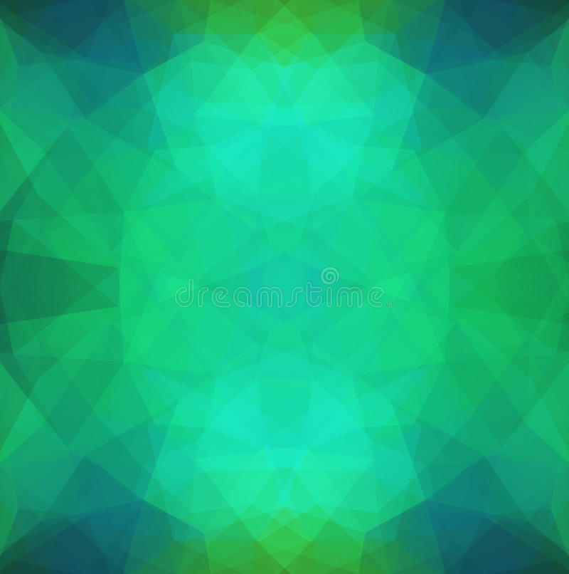 Abstract Pattern in Polygonal Style stock illustration