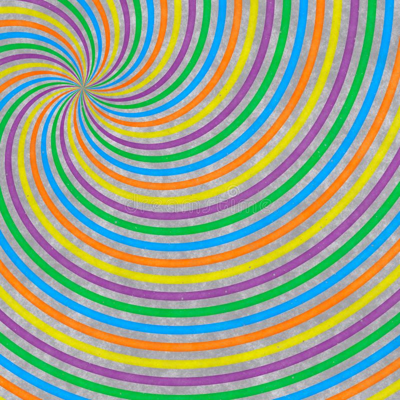 Abstract pattern from radial colorful lines on gray background royalty free illustration