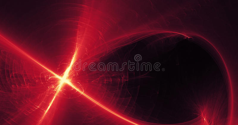 Abstract Pattern In Red And Yellow Light On Dark Background stock photos