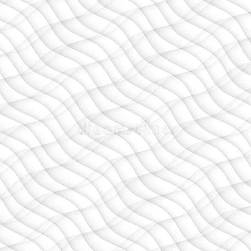 Abstract pattern seamless. white texture. wave wavy modern. Geometric white background. interior design wall 3d vector illustration royalty free illustration