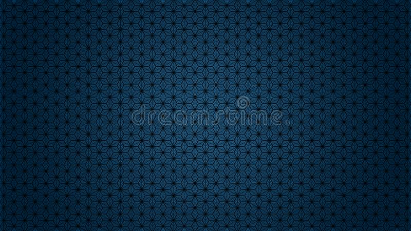 Abstract pattern surface forming cubes, stars, hexagons stock photo