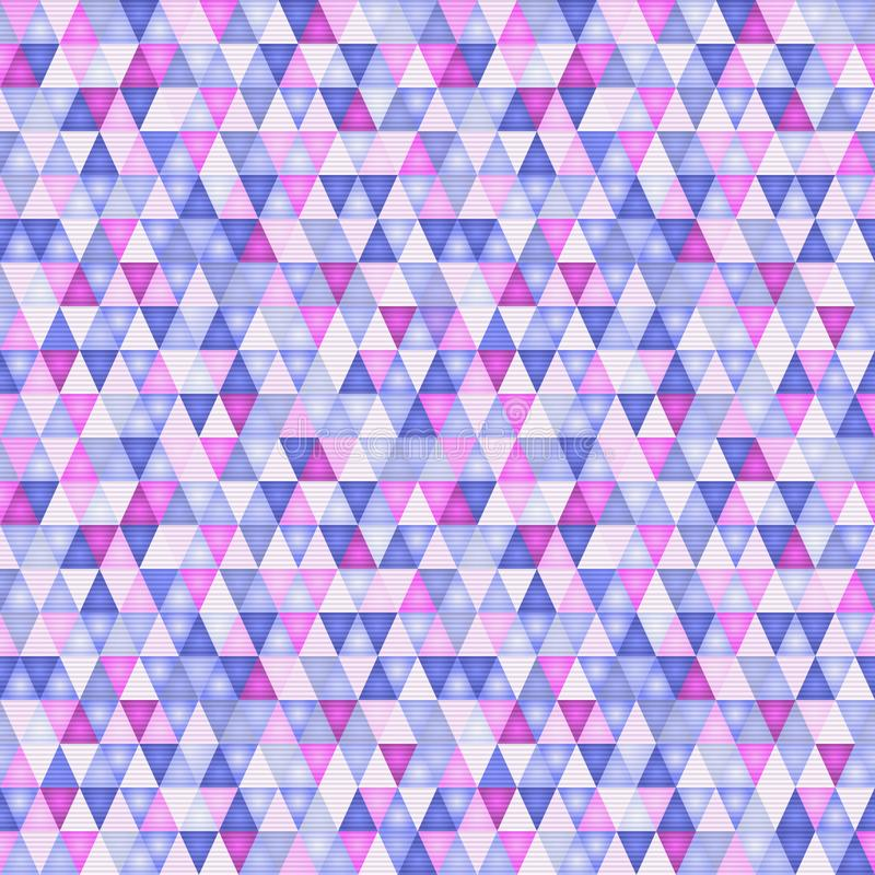 Abstract pattern with triangles in ultraviolet. And texture, vector illustration eps10 stock illustration