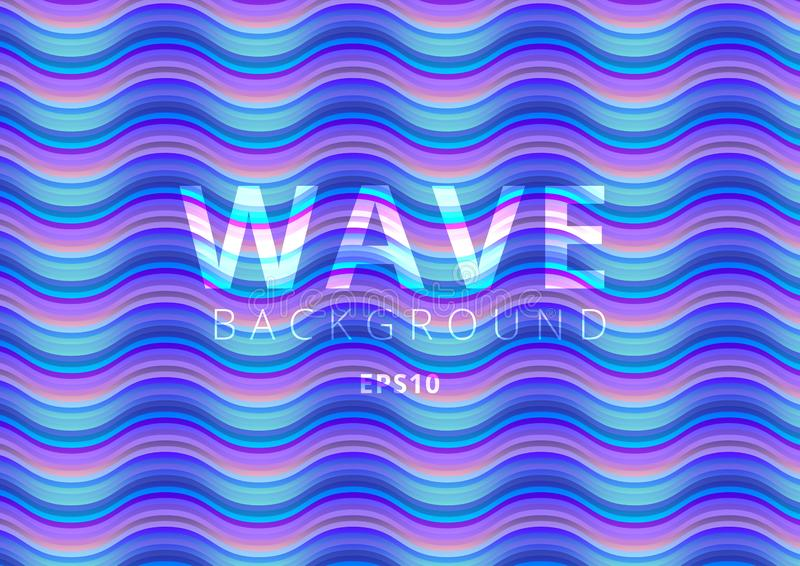 Abstract pattern wave bright color background. Modern colorful flow liquid blue color design stock illustration
