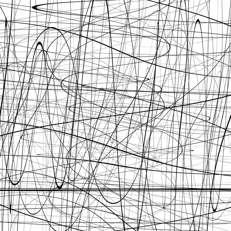 Free Abstract Pattern With Squiggly, Squiggle Lines. Abstract Texture Stock Image - 81770491