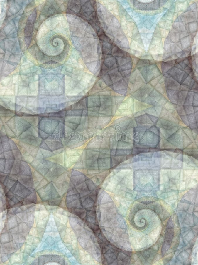 Abstract Patterns Gray Spirals. An abstract texture background pattern tiles and swirls design in gray and blue colors royalty free stock photos
