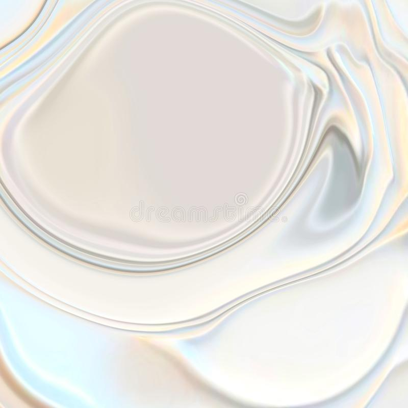 Abstract pearl fashion white wavy 3d silk texture background. Abstract pearl white wavy 3d silk texture background.Beauty white cream texture.Background for vector illustration