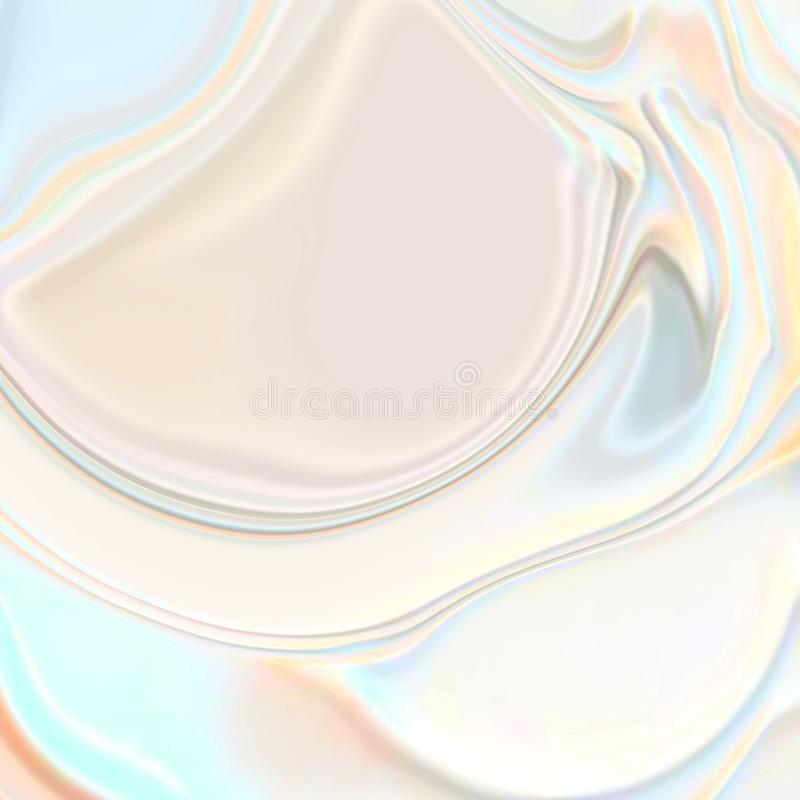 Abstract pearl fashion white wavy 3d silk texture background. Abstract pearl white wavy 3d silk texture background.Beauty white cream texture.Background for stock illustration