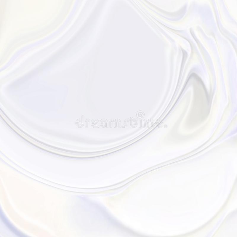 Abstract pearl white wavy 3d silk texture background. Beauty white cream texture.Background for your brand vector illustration