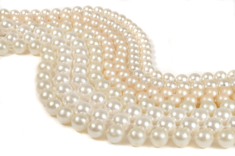 Abstract pearls. Strings of pearls (horizontal stock photography