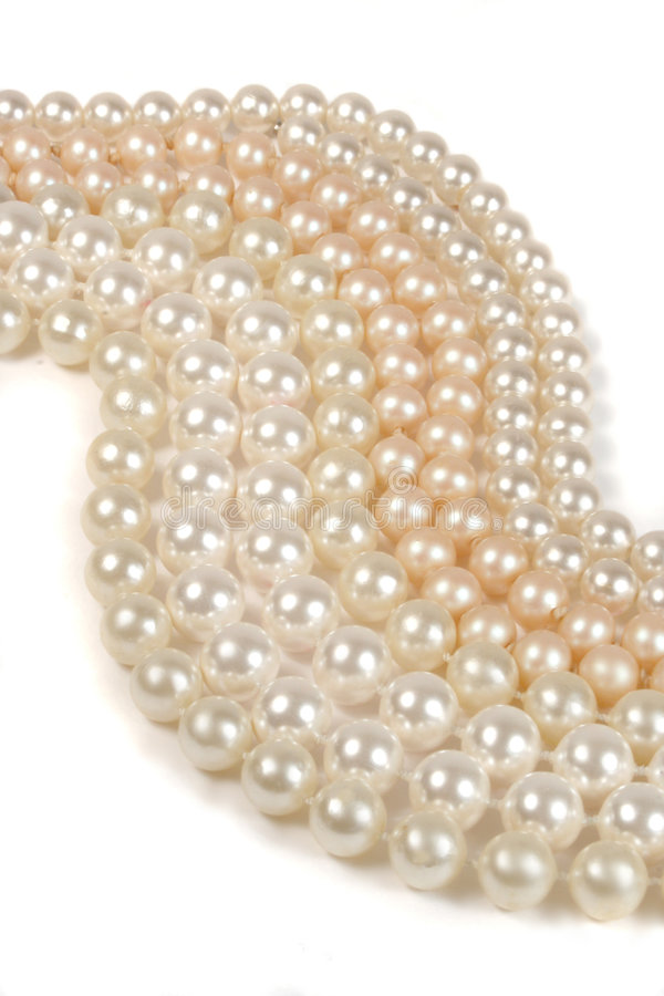 Abstract pearls. Strings of pearls (vertical stock image
