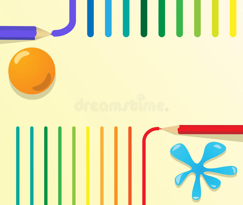 Abstract pencil background vector illustration