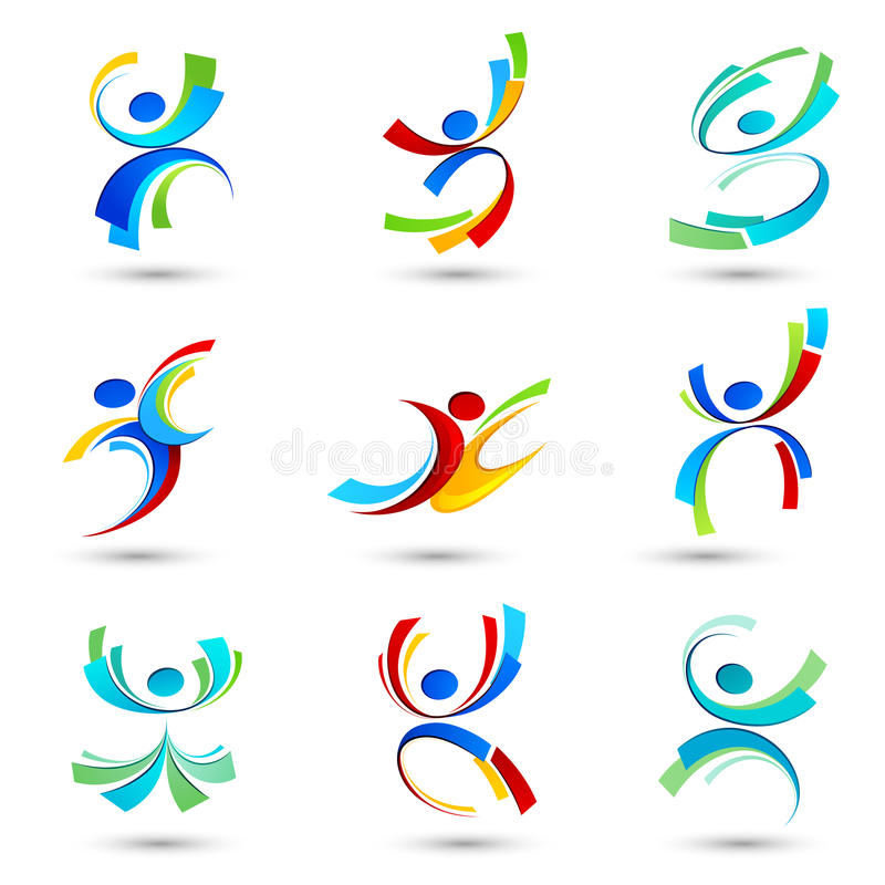 Download Abstract people icons stock vector. Image of logo, help - 22275122