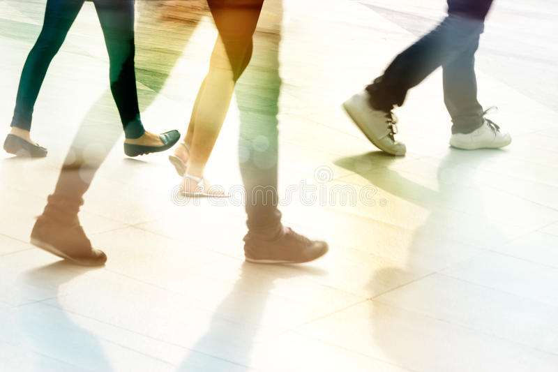 Abstract people street walk in the city, pastel and blur concept. Abstract people street walk in the street city, pastel and blur concept royalty free stock images