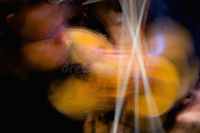 Abstract Concert violinist in performance royalty free stock image