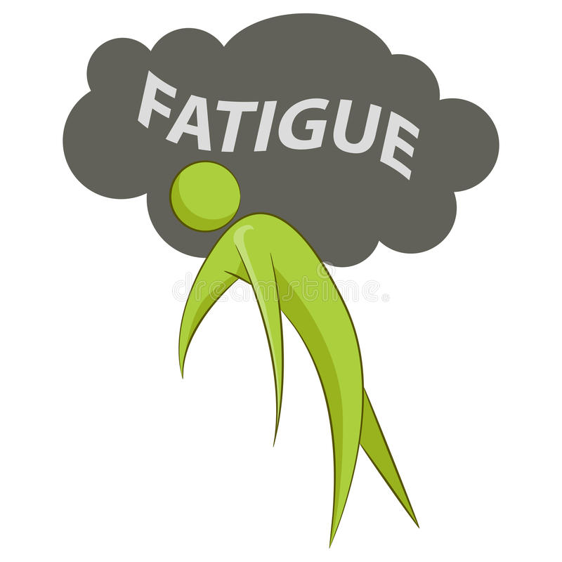 Abstract Person Suffering Fatigue. An image of an abstract individual suffering from fatigue vector illustration